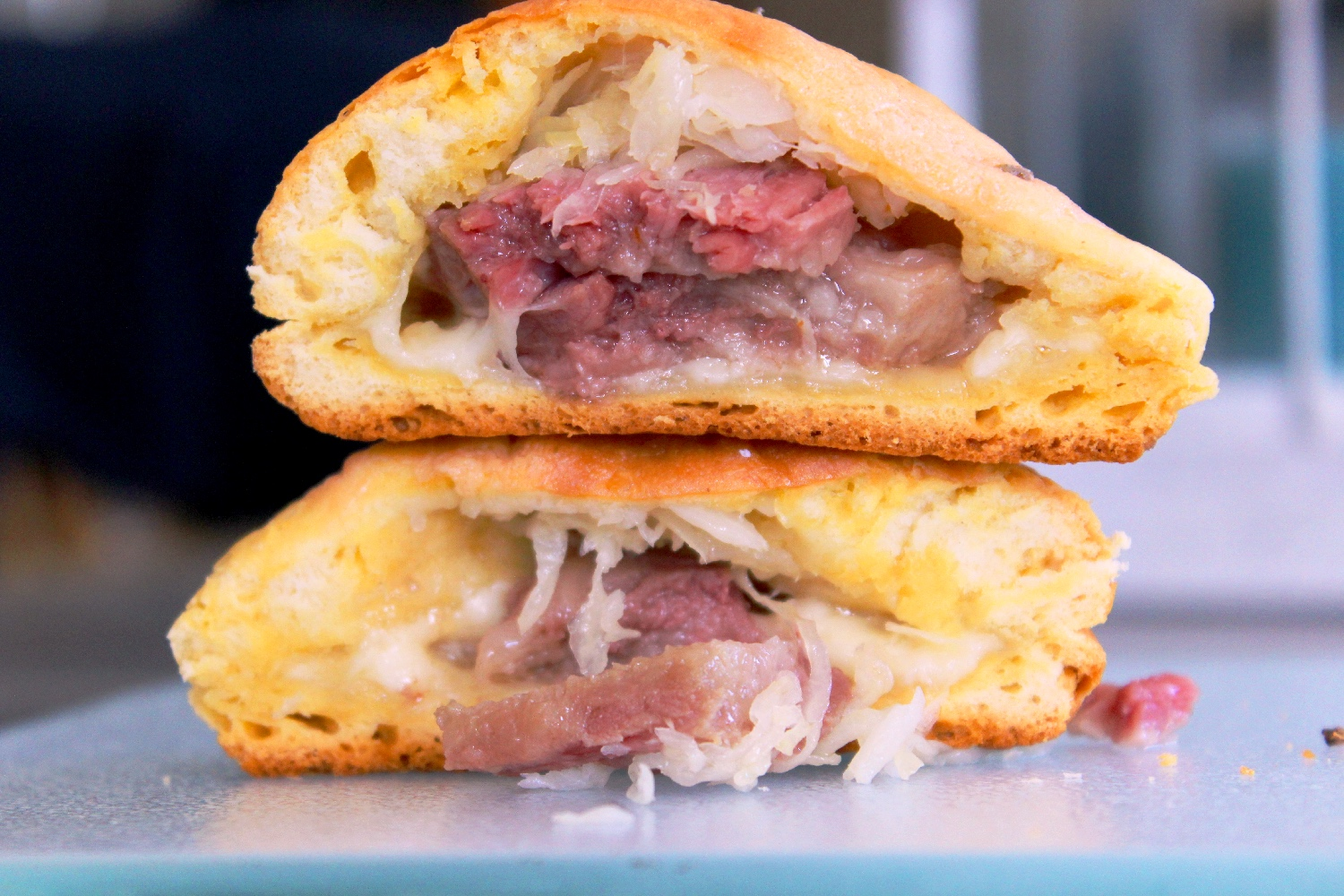 Reuben Filled Dinner Buns!